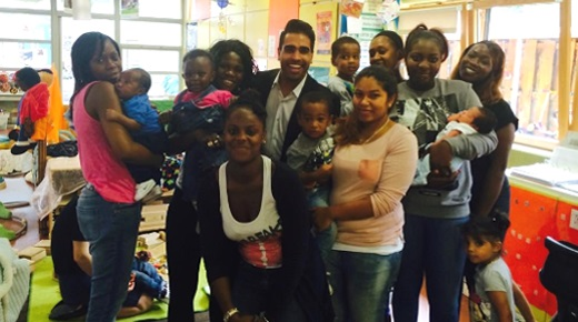 Dr Ranj and young parents at our social media empowerment day courtey of @aslisonbaum